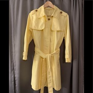 Vintage Butter Yellow Gap Raincoat